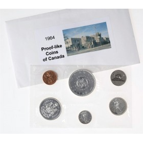 1964 MISSING DOT Canada Silver Proof-Like (PL) Collector Set - Confederation Meetings Commemorative