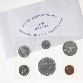 1965 BLUNT 5 Canadian 6-Coin Silver Proof-Like (PL) Collector Set