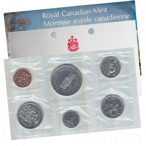 1973 SMALL BUST Canadian 6-Coin Brilliant Uncirculated (Proof-like) Collector Set