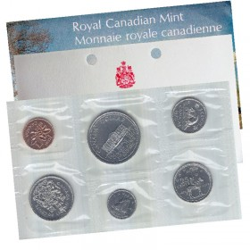 1973 LARGE BUST Canadian 6-Coin Brilliant Uncirculated (Proof-like) Collector Set