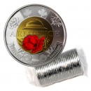 2018 Canadian $2 Armistice 100th Anniv Remembrance Poppy Toonie Original Coin Roll (All Coloured)