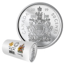 2019 Canadian 50-Cent Coat of Arms Half Dollar Special Wrap Circulation Coin Roll