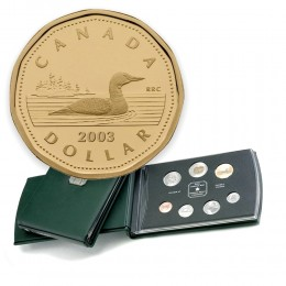 2003 Canadian Specimen Set - Standard Issue Loonie