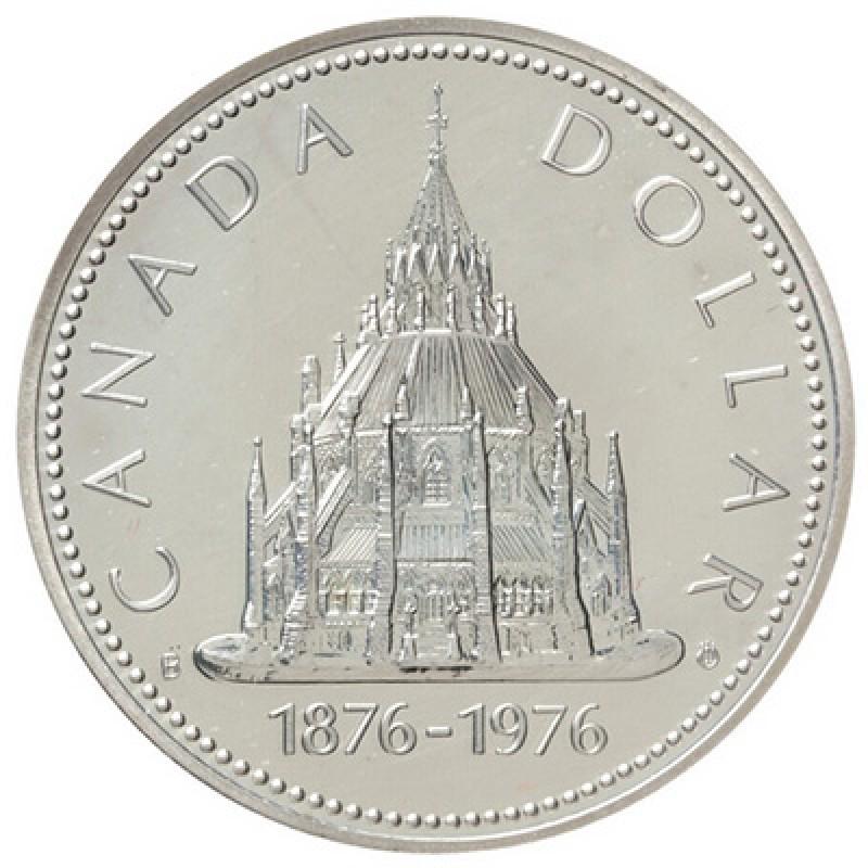 1976 1876 Canadian 1 Library Of Parliament Centennial