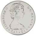 1985 (1885-) Canadian $1 National Parks Centennial Brilliant Uncirculated Silver Dollar Coin