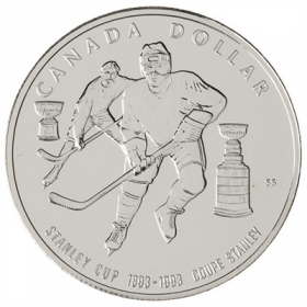 1993 Canada Brilliant Uncirculated Silver Dollar - 100th Anniversary of the Stanley Cup®