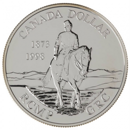 1998 Canada Brilliant Uncirculated Silver Dollar - 125th Anniversary of the R.C.M.P.