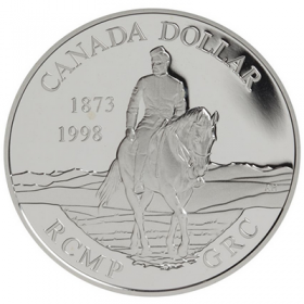 1998 (1873-) Canadian $1 RCMP 125th Anniversary Proof Sterling Silver Dollar Coin