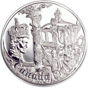 2002 Canada Brilliant Uncirculated Silver Dollar - 50th Anniversary of Queen Elizabeth II's Accession to the Throne