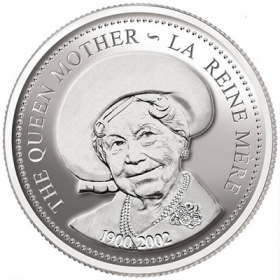 2002 Canada Proof Silver Dollar - Queen Elizabeth the Queen Mother