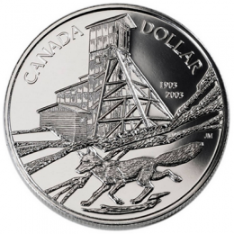 2003 Canada Brilliant Uncirculated Fine Silver Dollar - 100th Anniversary of the Cobalt Discovery