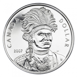 2007 Canada Brilliant Uncirculated Silver Dollar - Celebrating Thayendanegea (Joseph Brant)