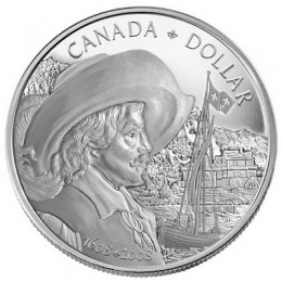 2008 Canada Proof Silver Dollar - 400th Anniversary of Quebec City