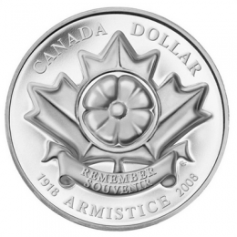 "2008 Canada Limited Edition Proof Silver Dollar - ""The Poppy"" Armistice"