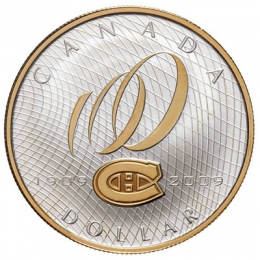 2009 Canada Proof Silver Dollar - 100th Anniversary of Montreal Canadiens