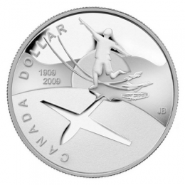 2009 Canada Proof Silver Dollar - 100th Anniversary of Flight in Canada