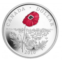 2010 Canada Limited Edition Proof Silver Dollar - Poppy (Coloured)