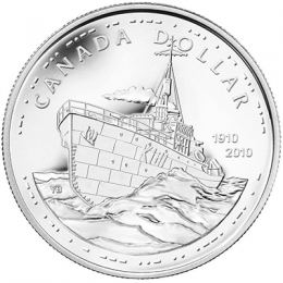 2010 Canada Brilliant Uncirculated Silver Dollar - 100th Anniversary of the Canadian Navy