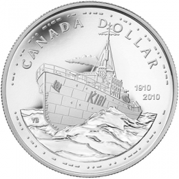 2010 Canada Proof Silver Dollar - 100th Anniversary of the Canadian Navy