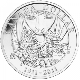 2011 (1911-) Canadian $1 Parks Canada 100th Anniversary Brilliant Uncirculated Silver Dollar Coin