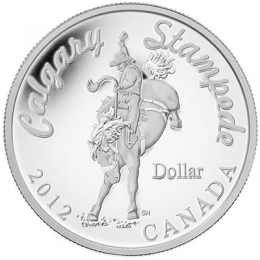2012 Canadian $1 Calgary Stampede 100th Anniversary Proof Fine Silver Dollar Coin (Limited Edition)