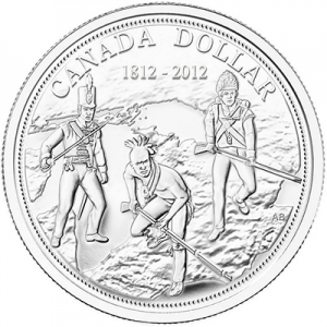 2012 Canada Brilliant Uncirculated Fine Silver Dollar - 200th Anniversary of the War of 1812