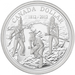 2012 (1812-) Canadian $1 War of 1812 200th Anniv Proof Fine Silver Dollar Coin
