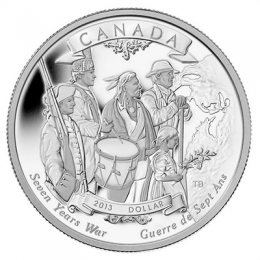 2013 Canada Proof Fine Silver Dollar - 250th Anniversary of the End of the Seven Years War