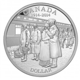 2014 Canada Proof Fine Silver $1 Dollar - 100th Anniversary of the Declaration of the First World War / No outer box