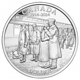 2014 Canada Brilliant Uncirculated Fine Silver Dollar - 100th Anniversary of the Declaration of the First World War