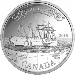 2016 Canada Proof Fine Silver Dollar - 150th Anniversary of the Transatlantic Cable