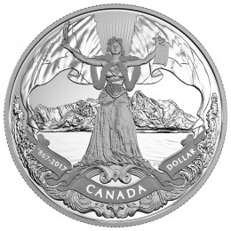2017 Canada Proof Fine Silver Dollar - 150th Anniversary of Canadian Confederation