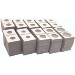 "Flip Coin Holders, Staple-type (Non-adhesive) - 2.5"" x 2.5"", 100-Count"