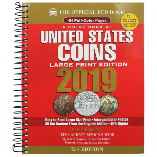 2019 The Official Red Book: A Guide Book of United States Coins - 72nd Edition (Large Print)