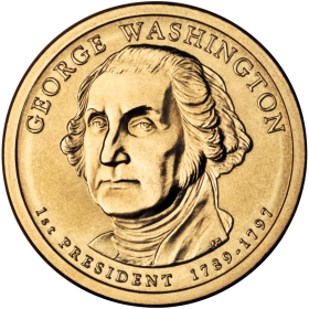 2007-P American $1 Presidential Series: George Washington Brilliant Uncirculated Coin