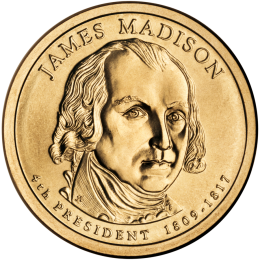 2007-P American $1 Presidential Series: James Madison Brilliant Uncirculated Coin
