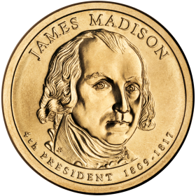 2007-D American $1 Presidential Series: James Madison Brilliant Uncirculated Coin