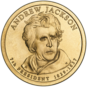 2008-D American $1 Presidential Series: Andrew Jackson Brilliant Uncirculated Coin