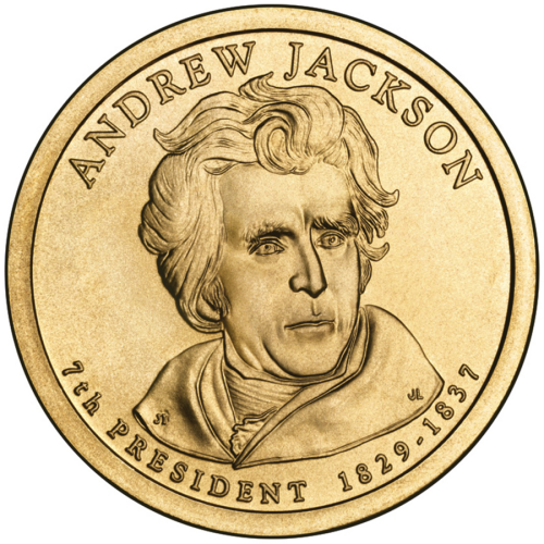 2008-P American $1 Presidential Series: Andrew Jackson Brilliant Uncirculated Coin