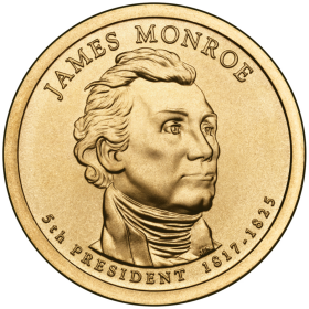2008-D American $1 Presidential Series: James Monroe Brilliant Uncirculated Coin