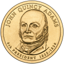 2008-D American $1 Presidential Series: John Quincy Adams Brilliant Uncirculated Coin