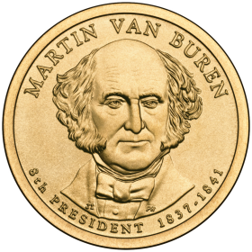2008-D American $1 Presidential Series: Martin Van Buren Brilliant Uncirculated Coin