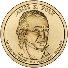 2009-P American $1 Presidential Series: James K. Polk Brilliant Uncirculated Coin