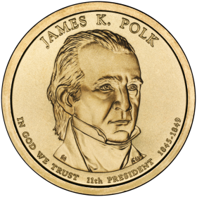 2009-D American $1 Presidential Series: James K. Polk Brilliant Uncirculated Coin