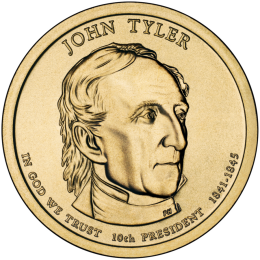2009-P American $1 Presidential Series: John Tyler Brilliant Uncirculated Coin