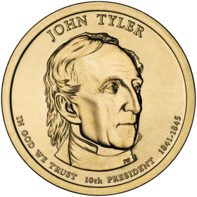 2009-D American $1 Presidential Series: John Tyler Brilliant Uncirculated Coin