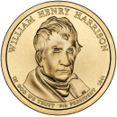 2009-D American $1 Presidential Series: William Henry Harrison Brilliant Uncirculated Coin