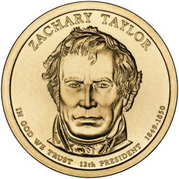 2009-P American $1 Presidential Series: Zachary Taylor Brilliant Uncirculated Coin