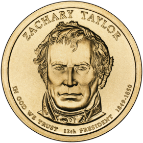 2009-D American $1 Presidential Series: Zachary Taylor Brilliant Uncirculated Coin