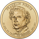 2010-P American $1 Presidential Series: Franklin Pierce Brilliant Uncirculated Coin